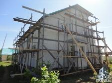 Фасадная штукатурка каркасного дома на минеральную вату_7
