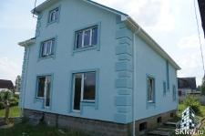 Фасадная штукатурка каркасного дома на минеральную вату_8