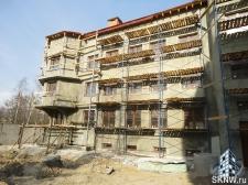 Элитный жилой комплекс утепление и отделка фасада декоративной штукатуркой с архитектурными элементами_12