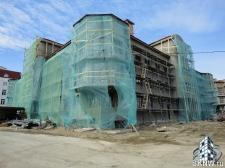 Элитный жилой комплекс утепление и отделка фасада декоративной штукатуркой с архитектурными элементами_13