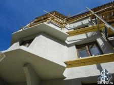 Элитный жилой комплекс утепление и отделка фасада декоративной штукатуркой с архитектурными элементами_14