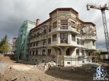 Элитный жилой комплекс утепление и отделка фасада декоративной штукатуркой с архитектурными элементами_16