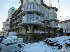 Элитный жилой комплекс утепление и отделка фасада декоративной штукатуркой с архитектурными элементами_2