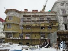 Элитный жилой комплекс утепление и отделка фасада декоративной штукатуркой с архитектурными элементами_5