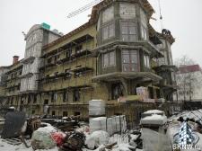 Элитный жилой комплекс утепление и отделка фасада декоративной штукатуркой с архитектурными элементами_7