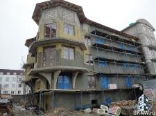 Элитный жилой комплекс утепление и отделка фасада декоративной штукатуркой с архитектурными элементами_8