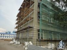 Реноация фасада декоративной штукатуркой ATLAS и архитектурными элементами_10