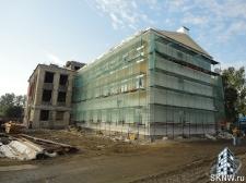 Реноация фасада декоративной штукатуркой ATLAS и архитектурными элементами_19