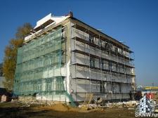 Реноация фасада декоративной штукатуркой ATLAS и архитектурными элементами_23