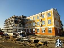 Реноация фасада декоративной штукатуркой ATLAS и архитектурными элементами_24