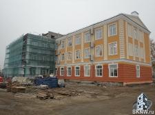 Реноация фасада декоративной штукатуркой ATLAS и архитектурными элементами_26