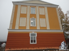 Реноация фасада декоративной штукатуркой ATLAS и архитектурными элементами_27