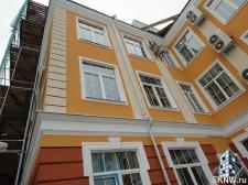 Реноация фасада декоративной штукатуркой ATLAS и архитектурными элементами_29