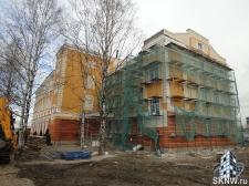 Реноация фасада декоративной штукатуркой ATLAS и архитектурными элементами_30