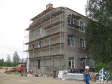 Реноация фасада декоративной штукатуркой ATLAS и архитектурными элементами_8