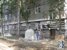Реноация фасада декоративной штукатуркой ATLAS и архитектурными элементами_9